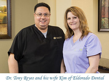 Dr. Tony Reyes and his wife Kim of Eldorado Dental